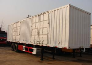 China 13m Roof Opened Steel Dry Van Freight Trailer 2 Axles For Goods Transportation on sale