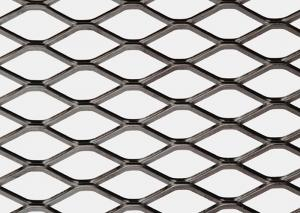 China Security Black Expanded Metal Mesh , Smooth Faced Aluminum Expanded Mesh Sheet on sale