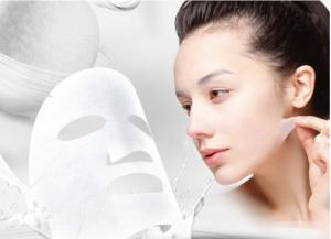 China Organic Mask Aloe Vera Crystal Facial Mask 21*21cm size can be customized on sale