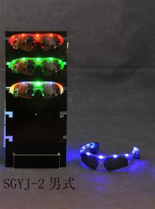 China Red, Blue, Green, Yellow, Pink Flashing Sunglasses for Parties, Concerts on sale