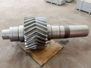 China AISI 4340 AISI 4140 AISI 4330V Mod Forged Forging Steel drilling rigs Mud pump herringbone gear shafts pinion shafts on sale