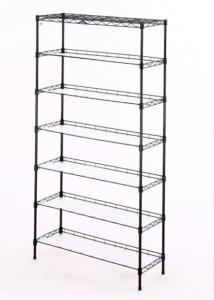 China 7-Tier Steel Shelving in White with 5 Perforated Steel Shelves for Storage Cloth Show rack shelf shelving on sale