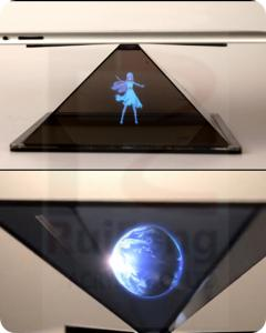 China 3D Holographic product display, Customized Holographic Projection Pyramid on sale