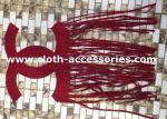 赤いビロードは衣類のアップリケふさとのハンドメイド レーザーの切断で縫います
