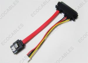 China Laptop 4PIN/7PIN/22PIN Red SATA Cable To 4PIN XHP Wiring Harness on sale