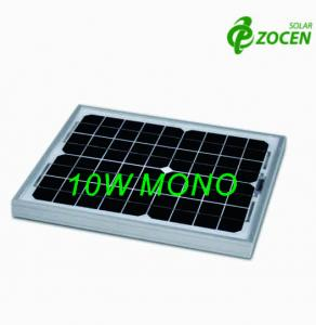 China 10Wp Monocrystalline Solar Panels With IEC61730 / IEC61215 Certificate on sale