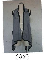 China Fashion Ladies / Womens Knitted Long Cardigan With Black Frill Design on sale