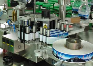 China 12000 BPH Sticker Square Bottle Labeling Machine For Juice Bottling Line on sale