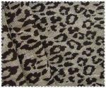 A juta 100% a mais nova tela impressa com leopardo