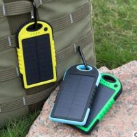 China Drop Resistant Waterproof Solar Powered Phone Charger For IPads / Android Phones on sale