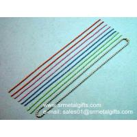Pre-cut steel ball chain lanyard with coupling for diy jewelry chain