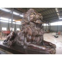 China Antique imitation Best Copper Lion Sculpture for Outdoor decoration on sale