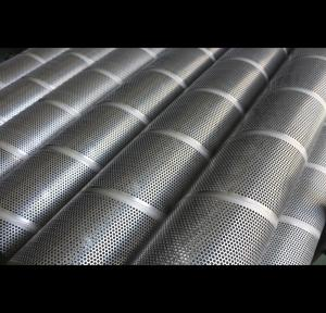 China 180° Perforation Pattern Perforated Filter Tube Powder Coating ISO9001 Approved on sale