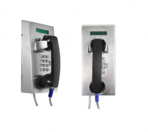 China Stainless Steel Waterproof Industrial Analog Telephone With LCD Display on sale