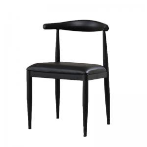 China Modern PU Dining Chairs , Leather Metal Hans Wegner Dining Chair on sale