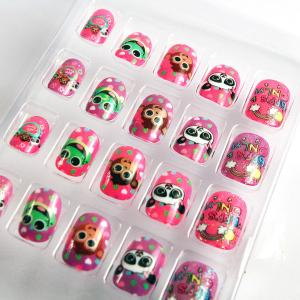 Quality Cute Pattern Cartoon Fake Nails Decoration Art Nail Tip For Kids Sale