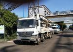 300KW Zoomlion Concrete Boom Truck , Boom Pump Truck Well Maintenanced