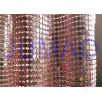 China 4 Mm Rose Gold Metal Mesh Fabric, Ring Connection Aluminum Brass Mesh Fabric on sale