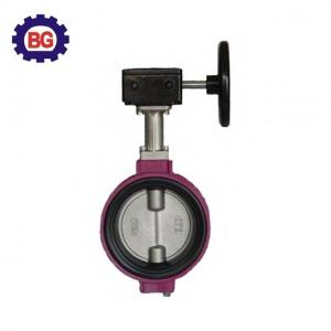 China Factory Direct Sale Aluminum Alloy Butterfly Valve with Worm Gear on sale