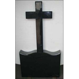 China Granito negro absoluto cruciforme grande Tombstoen, granito del negro de Shanxi on sale