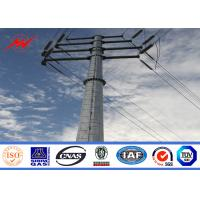 Round Tapered Electrical Transmission Line Poles For Overhead Line Project