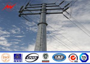China Round Tapered Electrical Transmission Line Poles For Overhead Line Project on sale