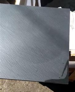China Indoors pavement good price Black Slate stone natural flooring tiles on sale
