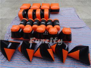 China PVC tarpaulin Inflatable Sport Games , 26pcs Inflatable Barriers on sale