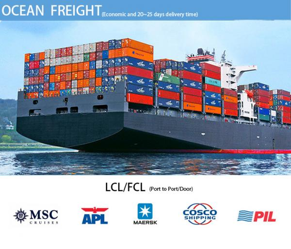 Door to door delivery service LCL sea freight forwarder from