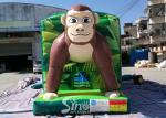 Giant Jungle Monkey Inflatable Bounce House Obstacle Course For Kids Party Fun