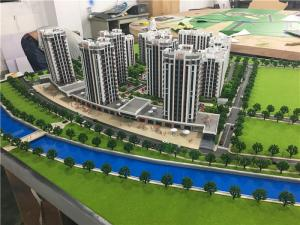 China LED Light Architectural Model Making Materials / 1/100 Scale Residential Physical Scale Maquette on sale