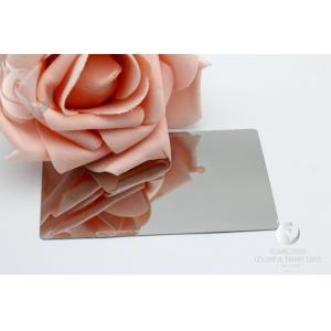 High Gloss Plain  Waterproof   Mirror Business Cards  Metal Stainless Steel Engraved