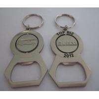 Metal bottle opener with center spinning on its axis, zinc alloy spinning bottle opener