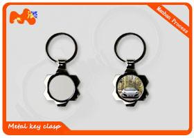 China Practical Style Sublimation Keychain Blanks For Advertising Gifts 35*46mm on sale