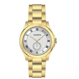 China Gold OEM Full Stainless Steel Watches With Luxury Casual Small Dials on sale