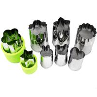 China Vegetable Cutters Shapes Set (8 Piece) - Cookie Cutters Fruit Mold Cheese Presses Stamps for Kids Shaped Treats Food on sale