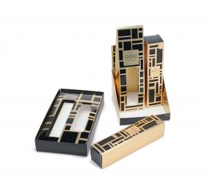 China Gold Reception Folding Personalized Card Box Gloss For Womens on sale