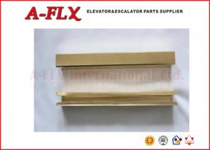 China Copper guide shoe Elevator Spare Parts ,  LG and Hitachi Elevator Accessories Yellow on sale