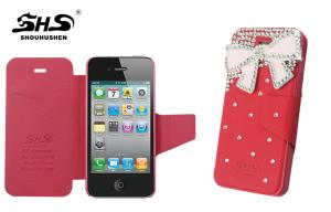 China Girls Pink Apple iPhone Protective Cases OEM iPhone 4S Protection Cover on sale