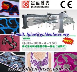 China Laser Computerized Embroidery Machine Price on sale