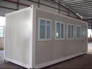 China Flexible 40 Foot Flat Pack Container House Steel Structure Frame Quick To Install on sale