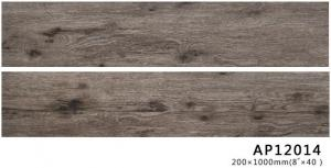 China Non Slip Ceramic Tile Wood Look Plank Floor Living Room  Brown Color 200*1000*10MM on sale