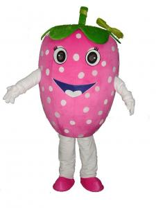 Quality handmade adults full-body strawberry mascot cartoon cosplay fruit costumes for for sale