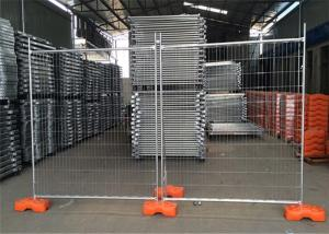 China Galvanized Temporary Construction Fence , Temporary Site Security Fencing 1100mm Height on sale