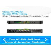 All In One TV Scrambler Multiplexer 4RF IP QAM Modulator Support 4 CAS SMS