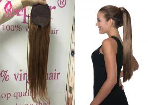 China Cute High Ponytail Extension Human Hair Weaves In Kenya , Easy To Dye on sale