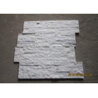 China White Quartz Stacked Stone Veneer , Outside Thin Stone Veneer Sheets on sale