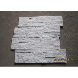 China White Quartz Stacked Stone Veneer , Outside Thin Stone Veneer Sheets on sale