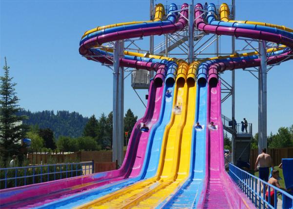 Fiberglass Swimming Pool Water Slides , Playground Water ...