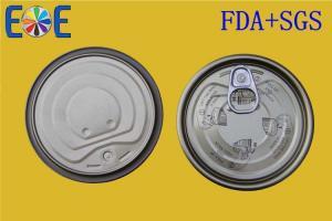 China EOE Metal Lids Tinplate Canned Food Lids 307# 83mm Food Grade on sale